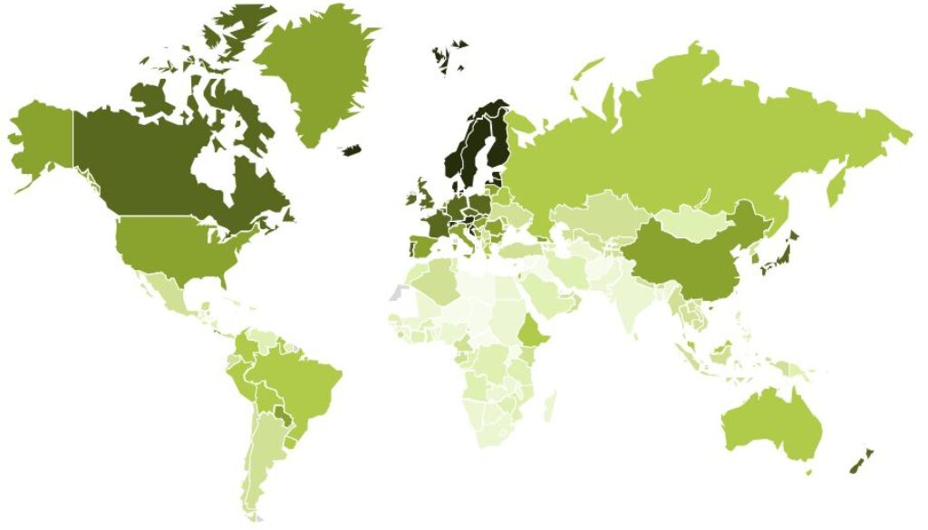 Sustainable Competitiveness World Map